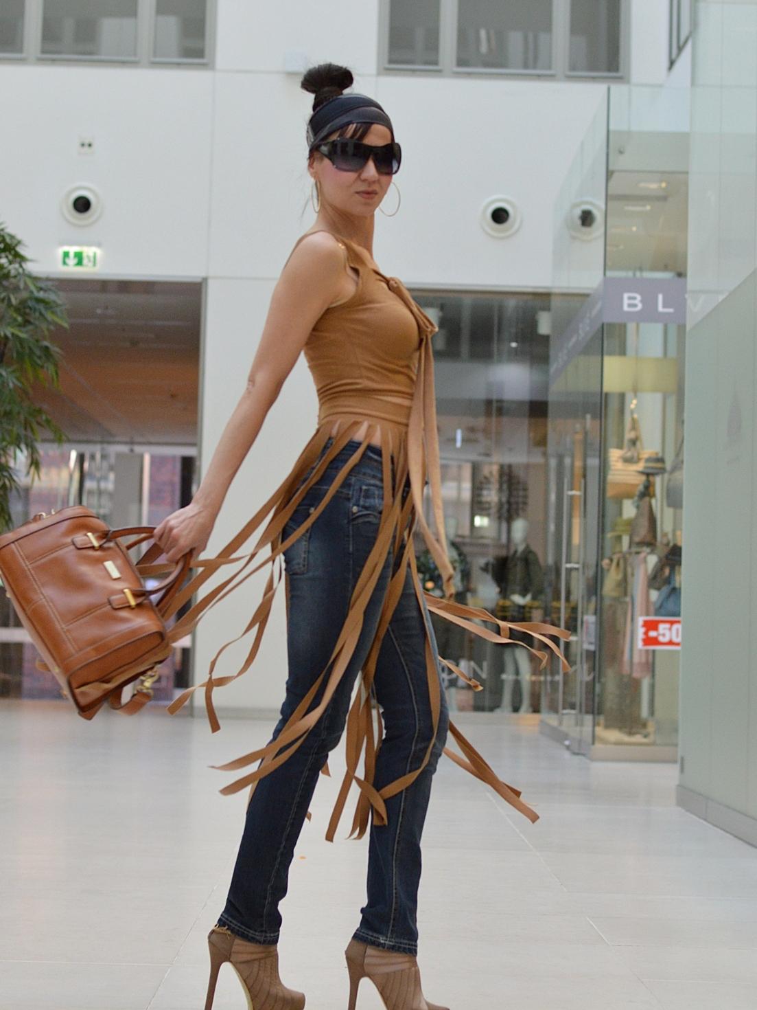 Fringe Belt Skirt
