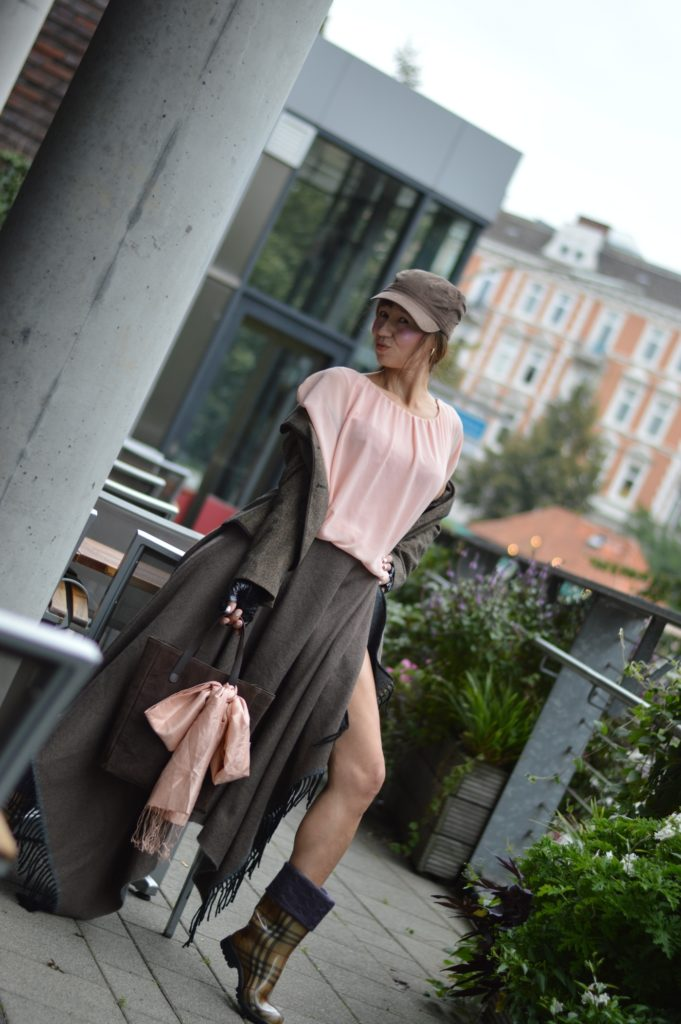 Scarf worn as a Skirt